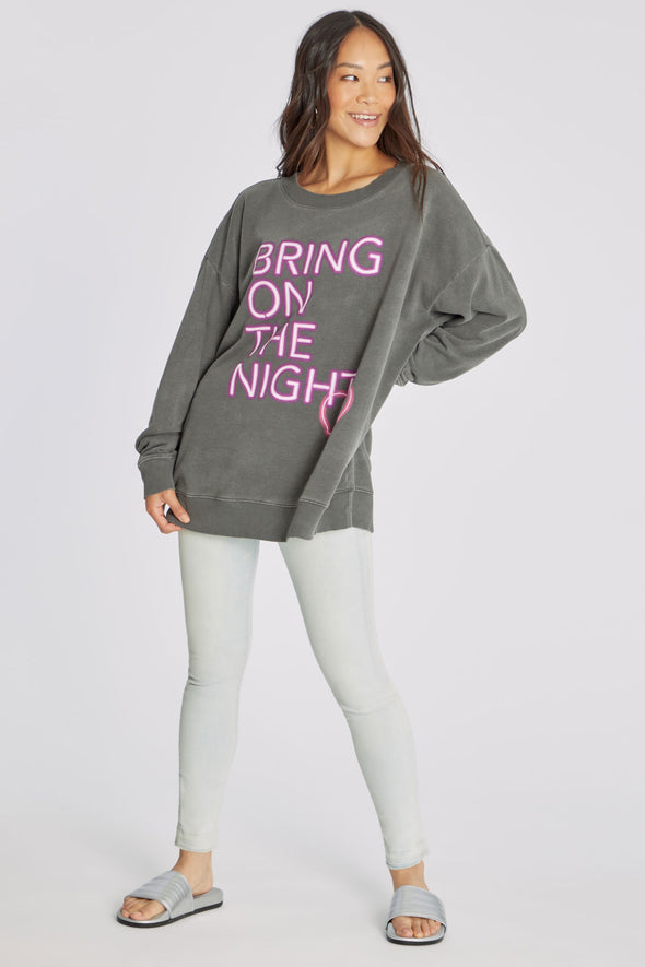 Night Creature Roadtrip Sweatshirt | P. Black