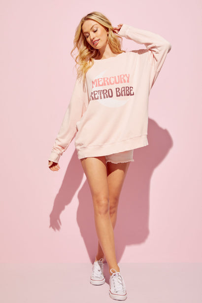 Retro Babe Roadtrip Sweatshirt | P. Pink Salt