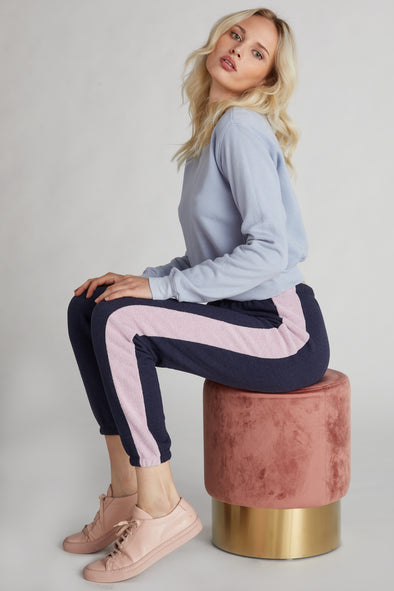Contrast Track Knox Pant  | Oxford/Mauve Shadow