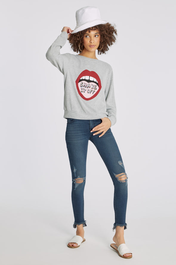 Shake It Off Baggy Beach Jumper | Heather Grey