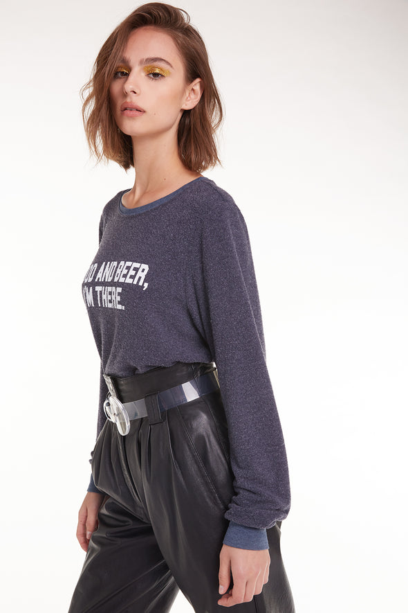 Food and Beer Baggy Beach Jumper | Oxford