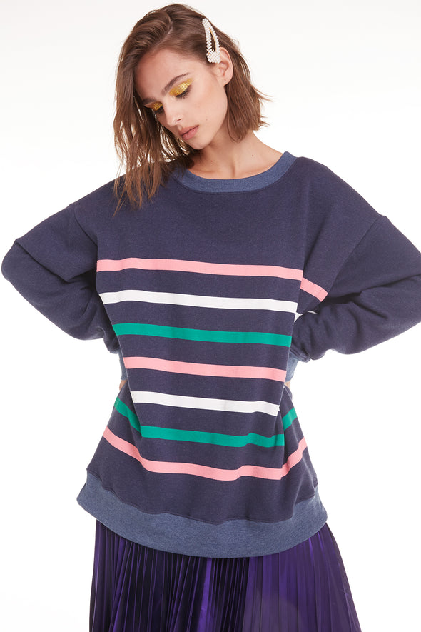 Multi Stripes Roadtrip Sweatshirt | Oxford
