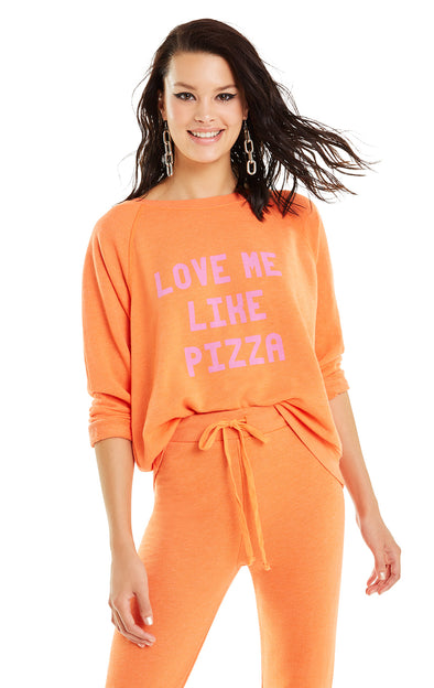 Love Me Like Pizza Sommers Sweater | Flame