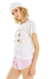 Slumber Party Animal No9 Tee | Vanilla