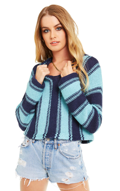 Chromatic Stroke Hermosa Sweater | Oxford/Glacier