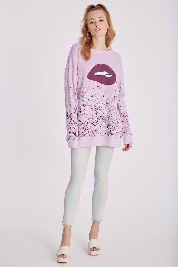 Lips And Drips Roadtrip Sweatshirt | Lupine