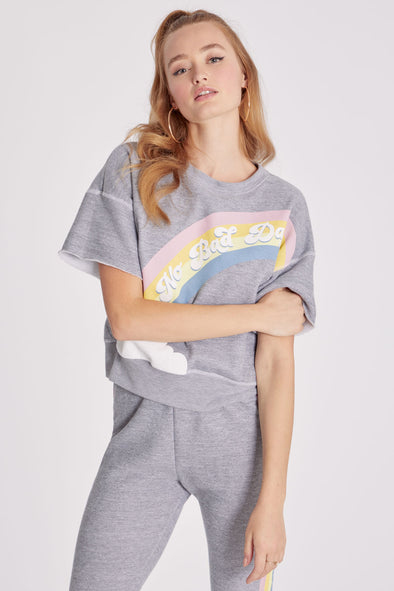 No Bad Days Billie Sweatshirt | Heather Grey Burnout