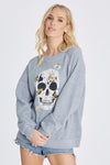 Moth Skull Sommers Sweatshirt | Heather Grey