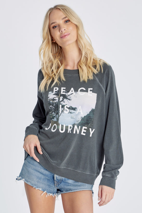 Peace Is A Journey Sommers Sweatshirt | Pigment Clean Black