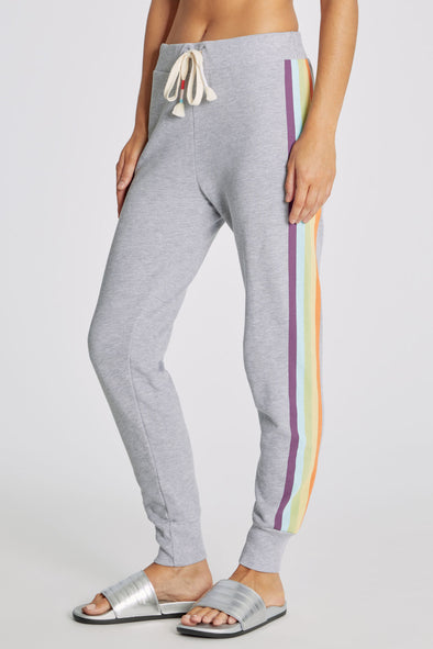 Rainbow Stripe Jack Jogger | Heather