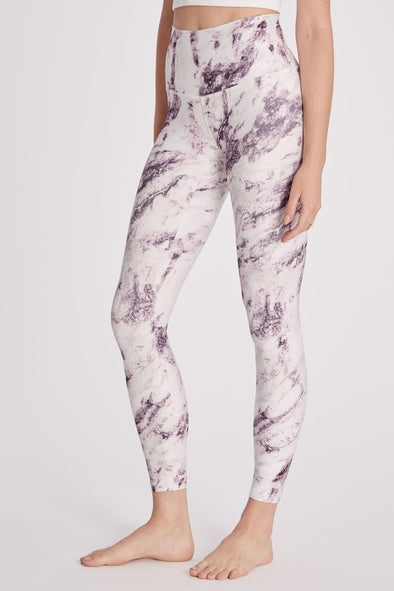 7/8 Print Legging | Purple Marble