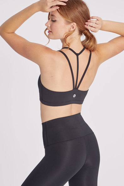 Strappy Sports Bra | Black