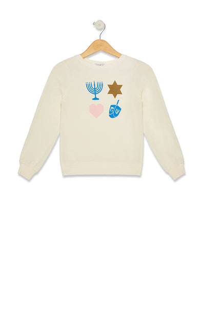Kids Bright Hanukkah Baggy Beach Jumper