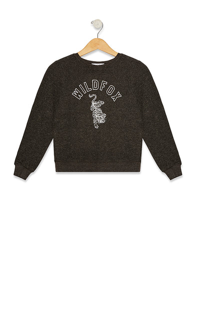 Wildfox Prowl Baggy Beach Jumper | Clean Black