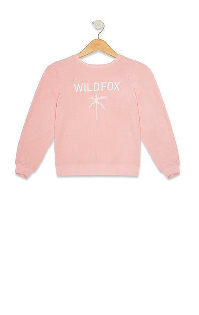 Kids Wildfox Palm Tree Baggy Beach Jumper | Carnation