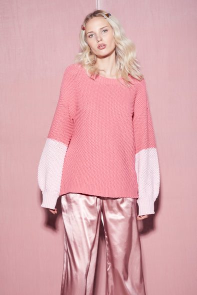 Love Block Swinton Sweater | French Rose