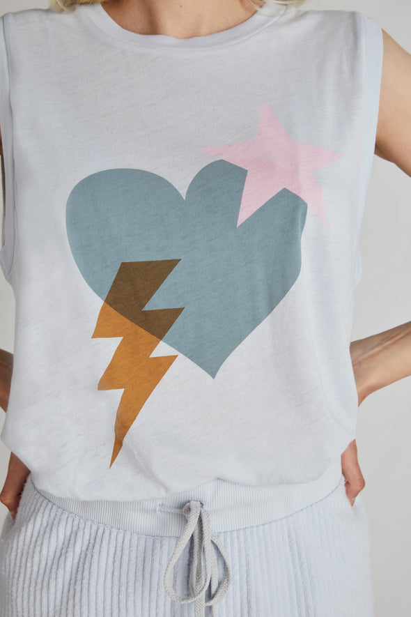 Love Bolt Vintage Muscle Tank