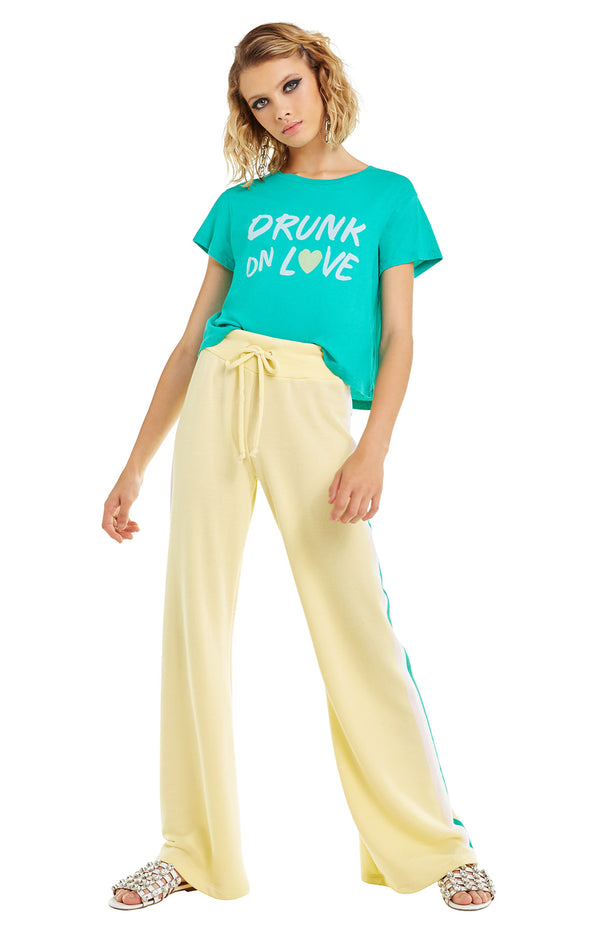 Drunk on Love Baby Tee | Emerald