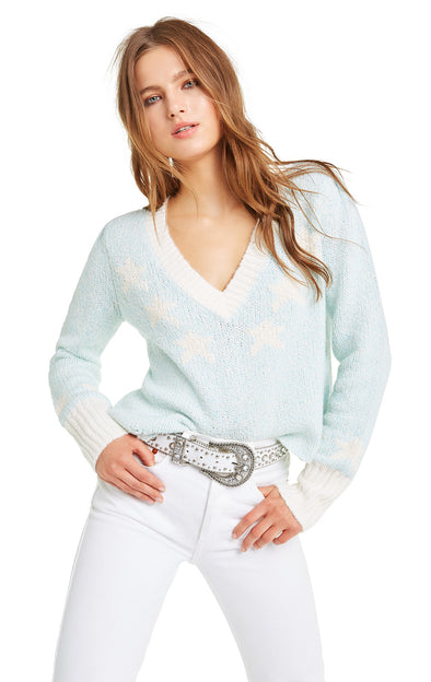 Star Girl Ace Sweater | Honolulu Blue