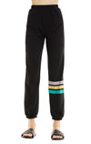 Vintage Stripe Easy Sweats | Clean Black