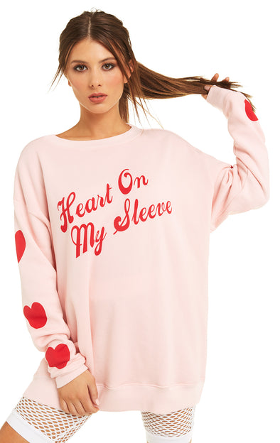 Heart on My Sleeve Roadtrip Sweater | Romantic