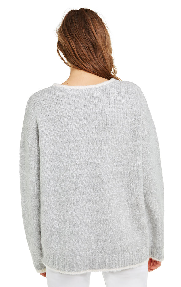 Keep Me Warm Clubs Sweater | Marled Gray Cloud