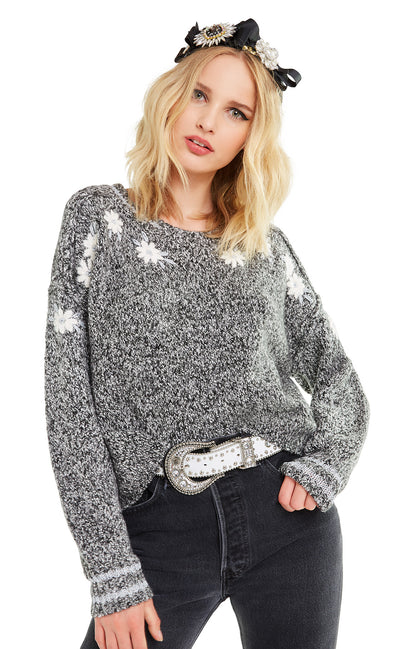 Flower Field Lewis Sweater | Black