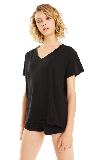 Romeo V-Neck Tee | Jet Black