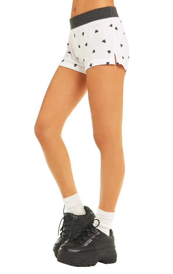 Falling Hearts Britney Shorts | Clean Black