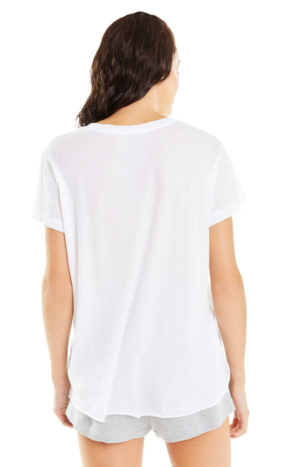 Romeo V-Neck Tee | Clean White
