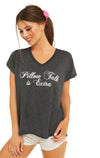 Pillow Talk is Extra Romeo V-Neck Tee | Clean Black