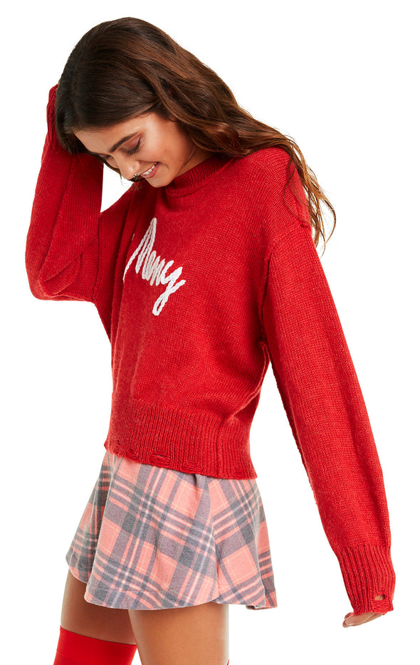 Merry Philo Sweater | Scarlet