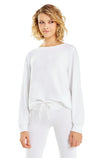 Baggy Beach Jumper | Clean White