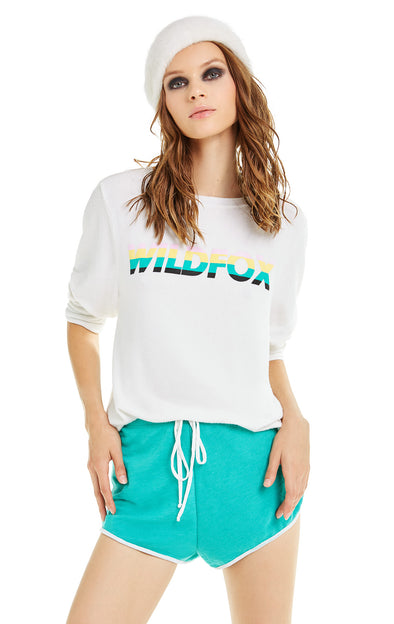 Speedy Wildfox Baggy Beach Jumper | Vanilla