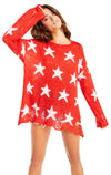 Seeing Stars Lennon Sweater | Scarlet