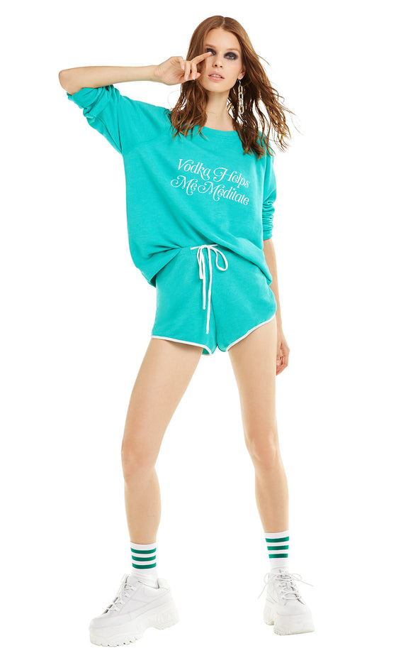Vodka Meditation Sommers Sweater | Emerald