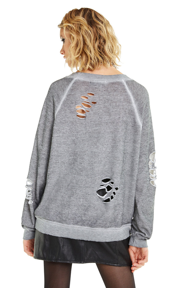 Hell Yeah! Distressed Sommers Sweater | Heather