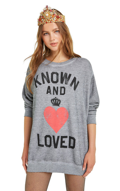 Known and Loved Roadtrip Sweater | Heather