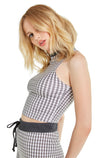 Black Gingham Fountain Crop | Multi