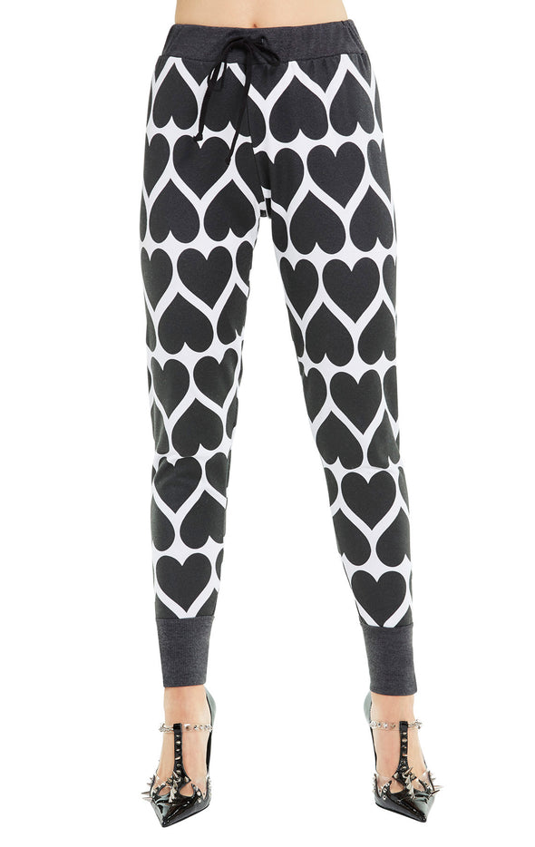Dark Hearts Gwen Jogger | Clean White Clean Black