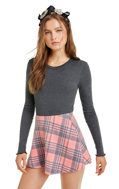 Sweetheart Plaid Villa Skirt | Multi
