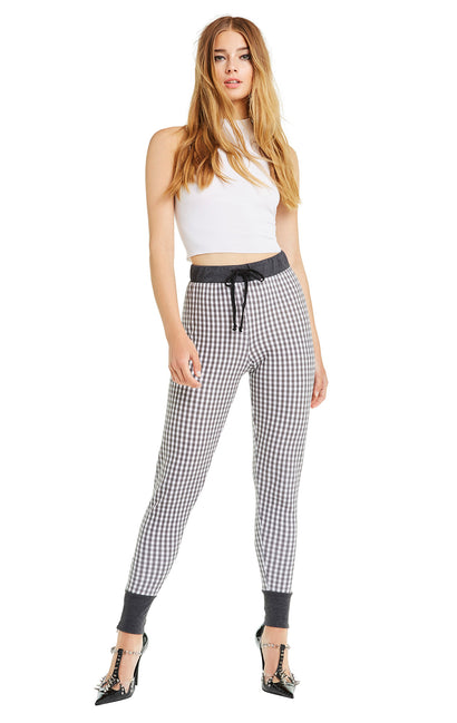 Black Gingham Gwen Jogger | Multi