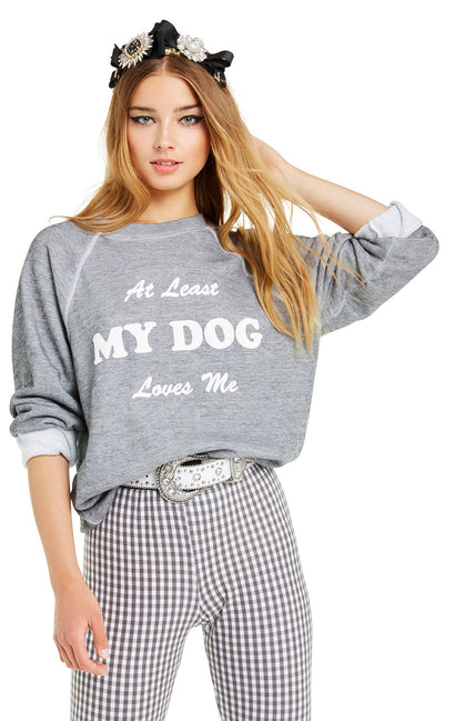 My Dog Loves Me Sommers Sweater | Heather