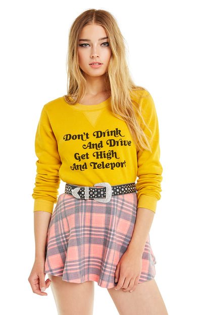 Get High and Teleport Quinn Sweatshirt | Golden Moon