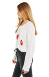 Queen of Hearts Claude Sweater | White