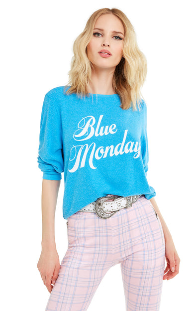Blue Monday Baggy Beach Jumper | Wonderland Blue