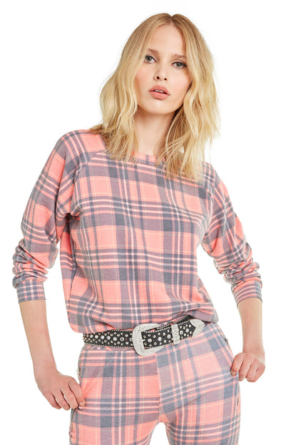 Sweetheart Plaid Junior Sweatshirt | Multi