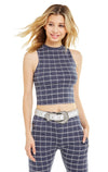 Simple Plaid Fountain Crop | Oxford