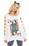 Queen of The Damned Sommers Sweater | Clean White