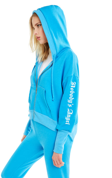 Nobody's Angel Theo Hoodie | Wonderland Blue